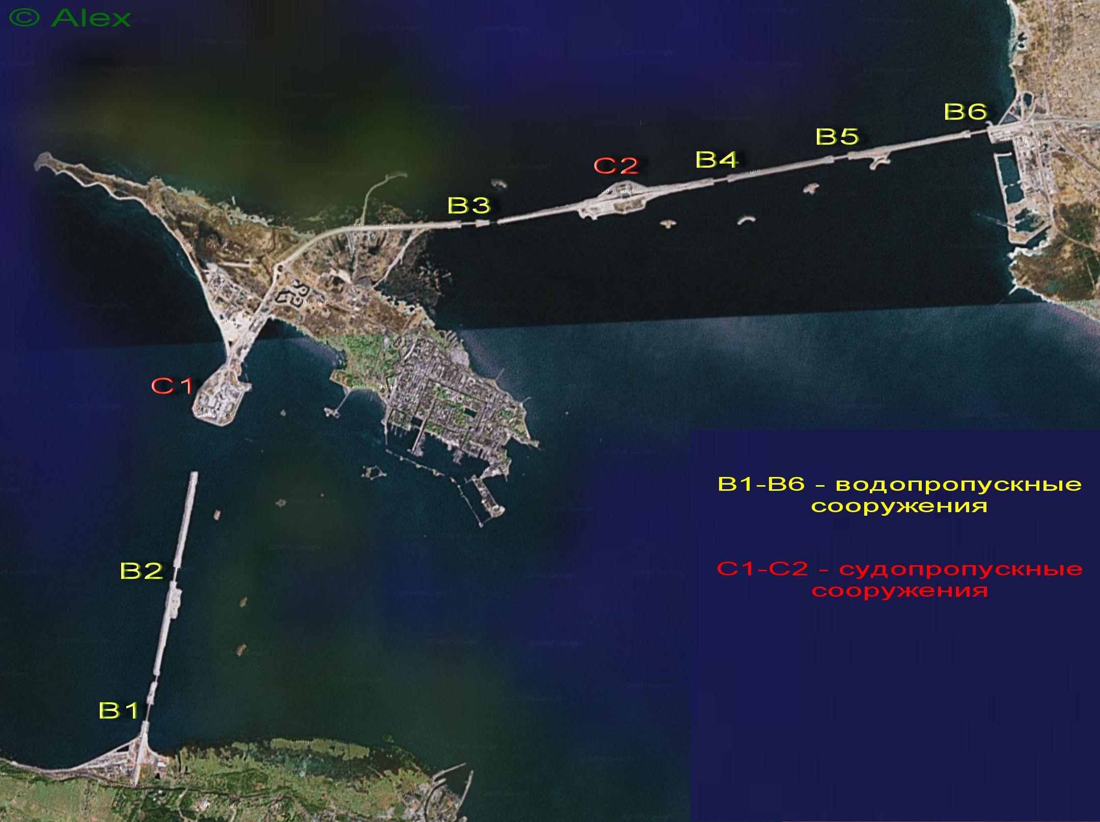 Схема на основе спутникового снимка.  Кликните для увеличения.