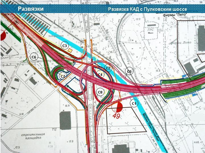1 . Фотографии Развязка КАД с Пулковским шоссе (около Санкт-Петербург.