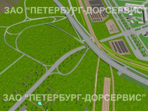 """Транспортная развязка на пересечении КАД с автомобильной дорогой  """"Кола """" (Мурманское шоссе) ."""