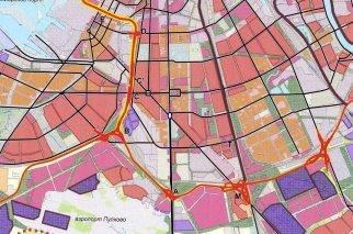 ЗСД схема развязки Центральный участок Северный и Южный